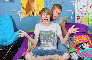 Kayden Daniels, Preston Andrews gay twinks 18+ video from Lollipop Twinks